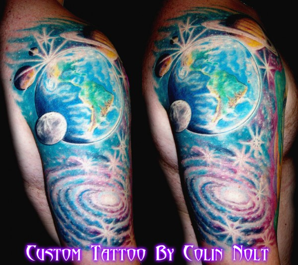 Epicdermis tattoo studio for Outer space tattoo designs